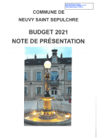 NOTE BUDGET 2021
